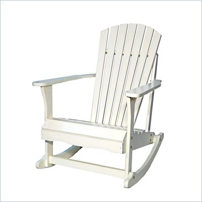 International Concepts Adirondack Porch Rocker in White Finish