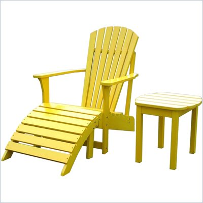 International Concepts Adirondack Footrest in Yellow Finish