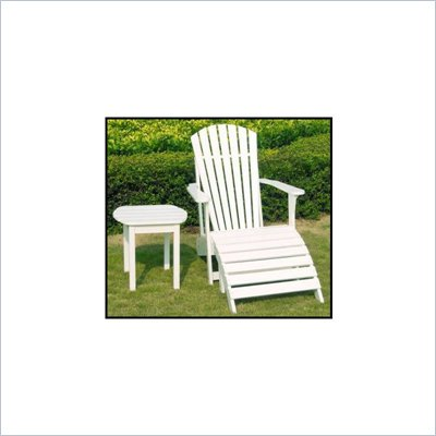 International Concepts Adirondack Sidetable in White Finish
