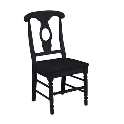 International Concepts Empire Wood Side Chair in Black Finish (Set of Two)