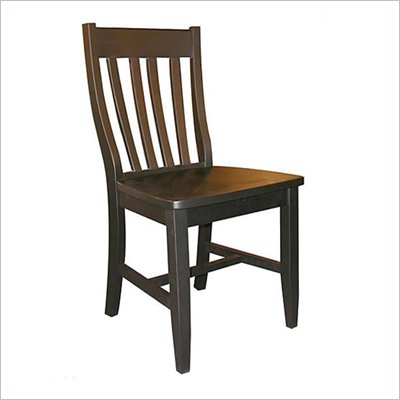 International Concepts Schoolhouse Wood Side Chair in Black Finish (Set of Two)