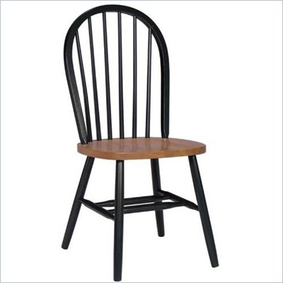 International Concepts Windsor Wood Side Chair in Black and Cherry Finish