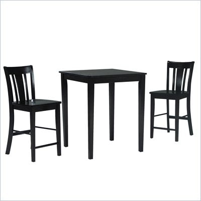 International Concepts 3 Piece Gathering Height Pub Set in Rich Mocha
