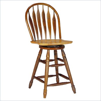 International Concepts Madison Park Windsor Stool in Cinnamon/Espresso