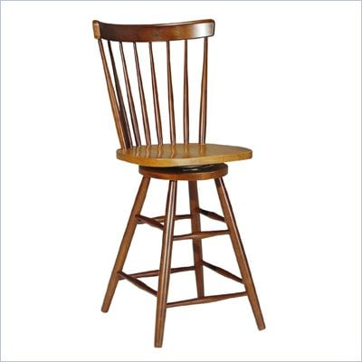 "International Concepts Madison Park 24"" Copenhagen Swivel Stool in Cinnamon/Espresso"
