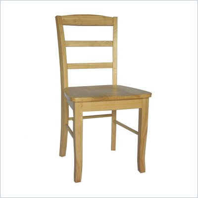 International Concepts Madrid Ladderback Wood Side Chairs in Natural Finish (Set of 2)