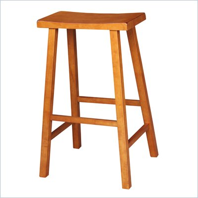 "International Concepts 29"" Saddle Seat Bar stool in Distressed Rustic Oak"
