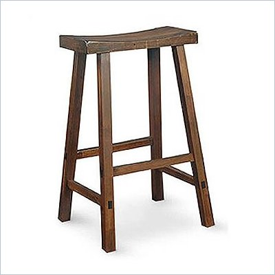 "International Concepts 29"" Saddleseat Counter Bar stool in Distressed Walnut"