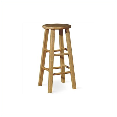 "International Concepts 24"" Round Top Counter Stool in Natural"