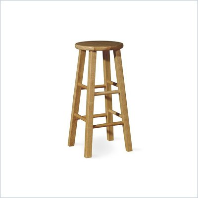 "International Concepts 29"" Round Top Bar Stool in Natural"