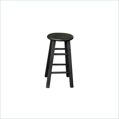 International Concepts 24&quot; Roundtop Counter Stool in Black