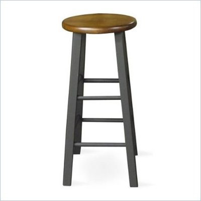"International Concepts 29"" Round Top Counter Stool in Black and Cherry"
