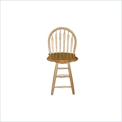 International Concepts 24&quot; Windsor Arrowback Swivel Counter Stool in Natural