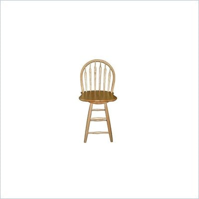 "International Concepts 30.75"" Windsor Arrowback Swivel Bar stool in Natural"