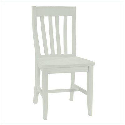 International Concepts SchoolHouse Wood Side Chair in White Finish (Set of Two)