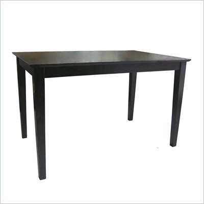 International Concepts Shaker Styled Table in Rich Mocha