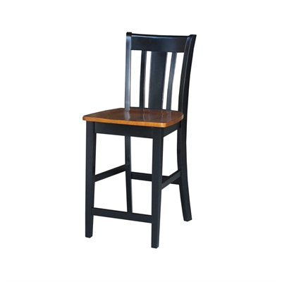 "International Concepts San Remo 24"" Stool in Black Cherry"