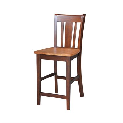 International Concepts San Remo 24&quot; Stool in Cinnamon Espresso