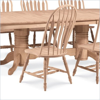 International Concepts Unfinished Windsor Wood Side Chair
