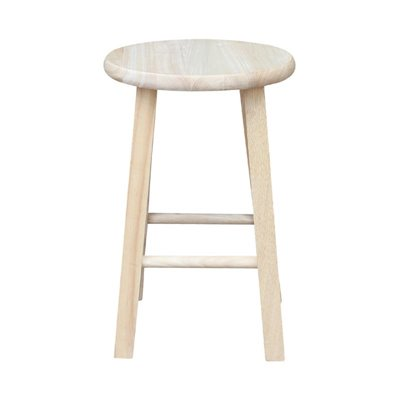 "International Concepts 18"" Unfinished Round Top Bar Stool"