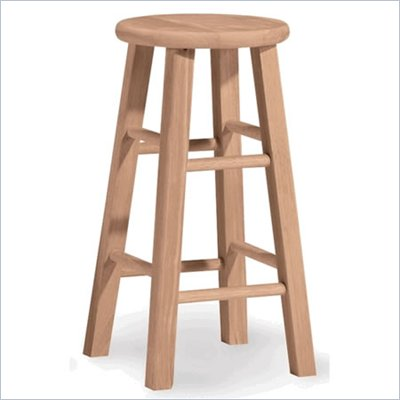 "International Concepts 24"" Unfinished Round Top Stool"