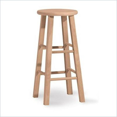 International Concepts 30&quot;H Round Top Unfinished Bar Stool