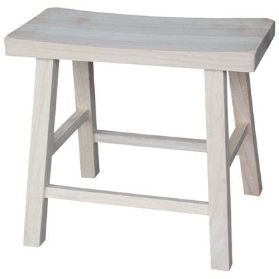 International Concepts 18&quot; Unfinished Saddleseat Stool