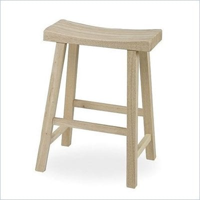 International Concepts 24&quot; Unfinished Saddleseat Stool