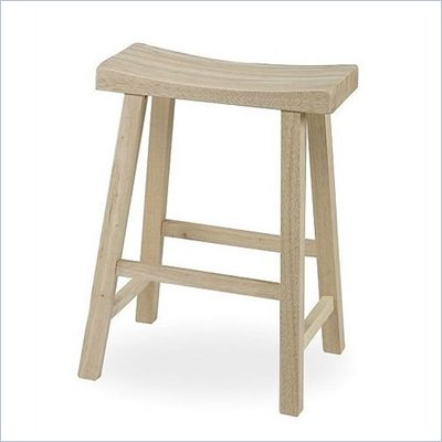 "International Concepts 24"" Unfinished Saddleseat Stool"