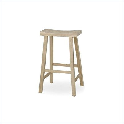 International Concepts 29&quot; Unfinished Saddleseat Stool
