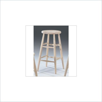 International Concepts 30&quot; Unfinished Scooped Seat Stool