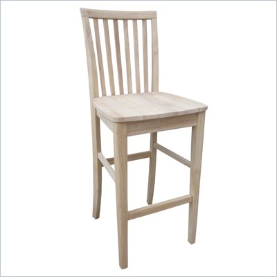 International Concepts 30&quot; inch Mission Unfinished Stool