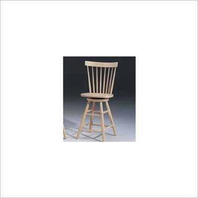 International Concepts 24 inch Copenhagen Unfinished Swivel Stool