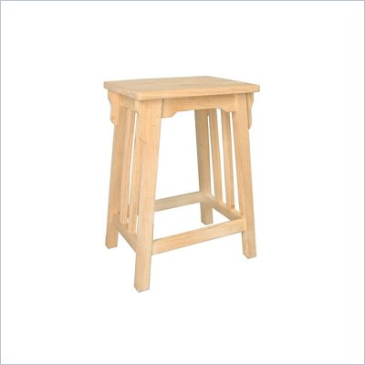 "International Concepts Unfinished Mission 24"" Bar Stool"