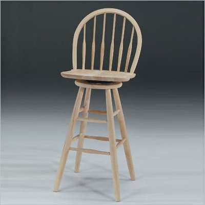 "International Concepts 30"" Spindleback Unfinished Windsor Swivel Stool"