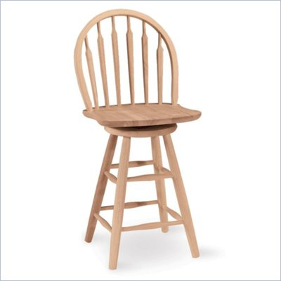 "International Concepts 24"" Unfinished Arrowback Windsor Swivel Stool"