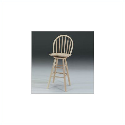 International Concepts 30&quot; Arrowback Windsor Unfinished  Swivel Stool