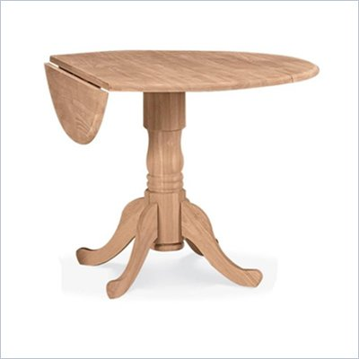 International Concepts Unfinished Wood 42&quot; Dual Drop Leaf Casual Dining Table