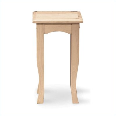 International Concepts 21&quot; High Unfinished Tea Table