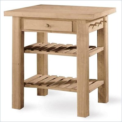 International Concepts Unfinished Butcher Block Kitchen Island