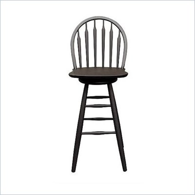 "International Concepts 30"" Windsor Arrowback Swivel Bar Stool in Black"