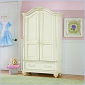 Lea Jessica McClintock Romance TV/Wardrobe Armoire in Antique White