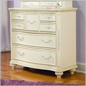 Lea Jessica McClintock Romance 7 Drawer Single Dresser with Antique White Wood Finish