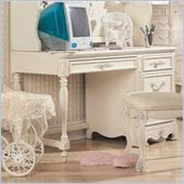 Lea Jessica McClintock Romance 3 Drawer Wood Student Computer Desk in Antique White