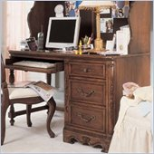Lea Jessica McClintock Heirloom 3 Drawer Wood Student Computer Desk in Dark Cherry