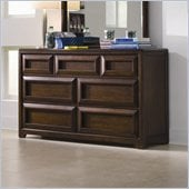 Lea Elite Expressions Kids 7 Drawer Double Dresser in Root Beer Cherry Finish