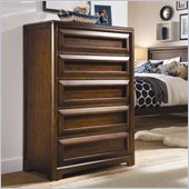 Lea Elite Expressions Kids 5 Drawer Chest in Root Beer Cherry Finish
