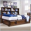ADD TO YOUR SET: Lea Elite Expressions Kids Bookcase Platform Storage Bed in Root Beer Cherry Finish