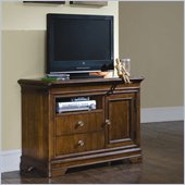 Lea Elite Classics Media Chest in Brown Cherry Finish