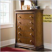 Lea Elite Classics Kids 5 Drawer Chest in Brown Cherry Finish